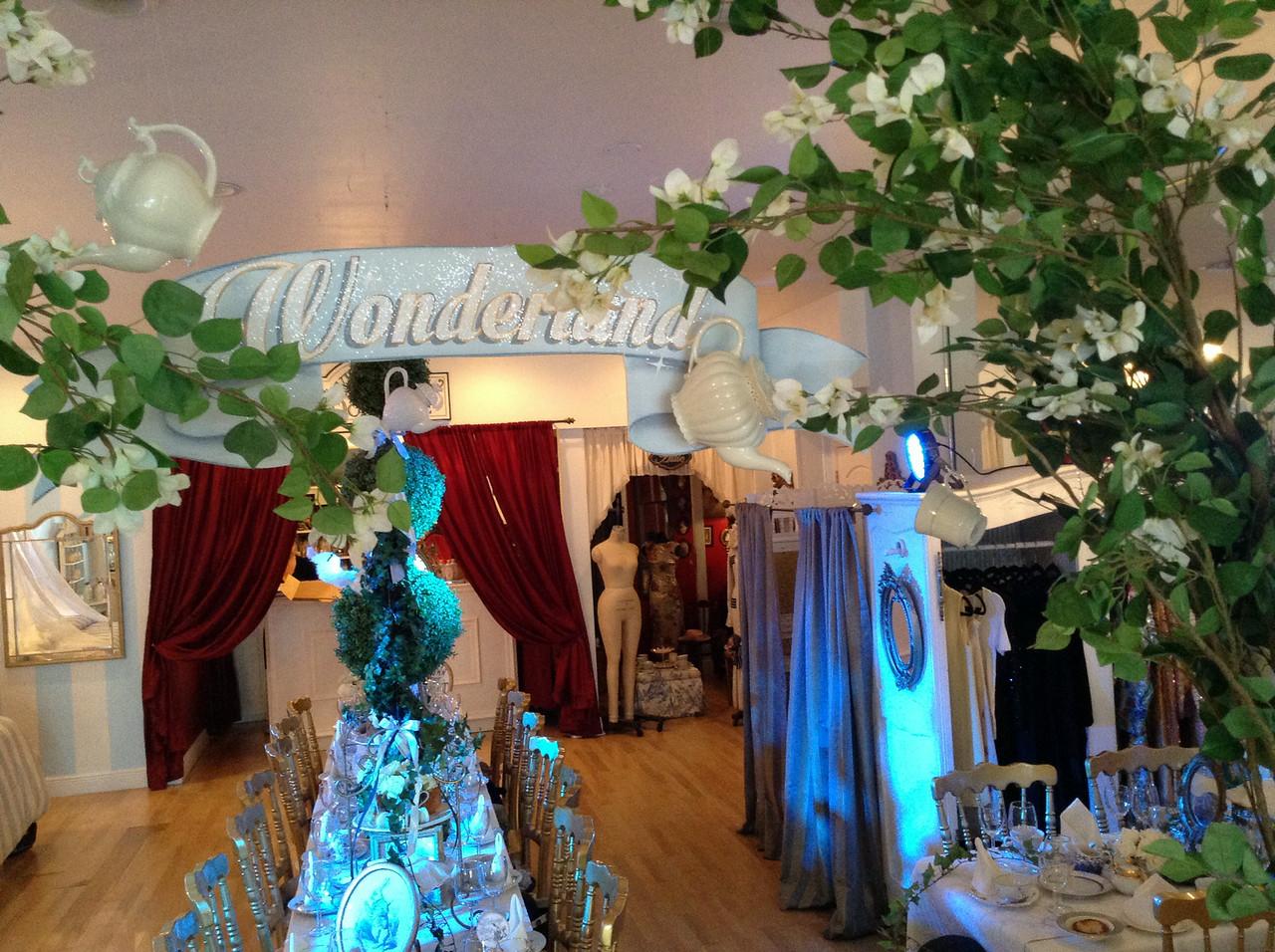 alice in wonderland baby shower royaltea service theme design